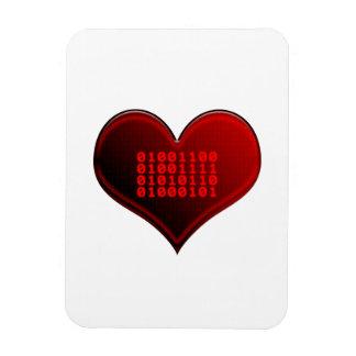 Binary LOVE Rectangle Magnet