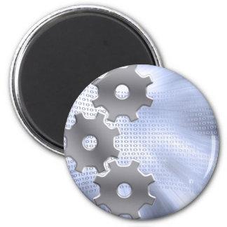 Binary Machine 2 Inch Round Magnet