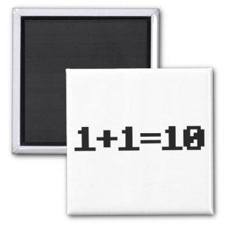 Binary 2 Inch Square Magnet