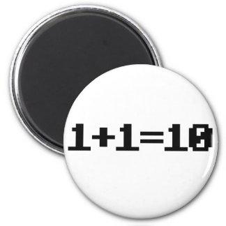 Binary 2 Inch Round Magnet
