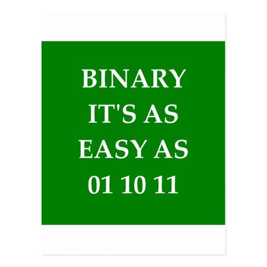 binary math postcard