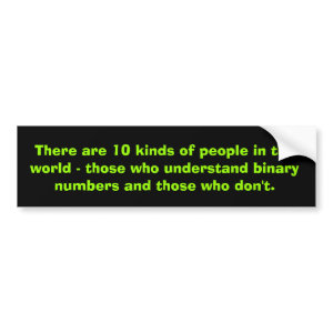 Binary Numbers 10 Kinds Of People