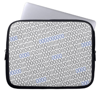Binary Numbers Pattern Blue Gray on any Color Laptop Sleeve
