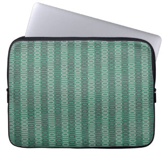 Binary Numbers Pattern Grey on any Color Laptop Sleeve