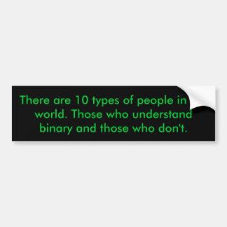 Binary People Bumper Sticker