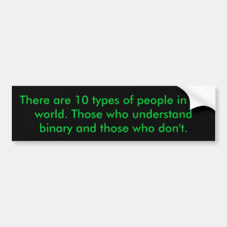 Binary People Car Bumper Sticker
