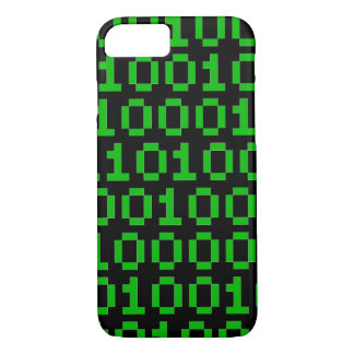 Binary pixel code iphone case