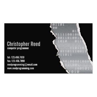 Binary Rip - Grey Business Cards