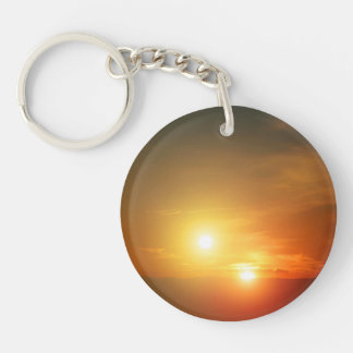 Binary Star Alien Sunset NASA Keychain