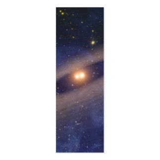 Binary Star Solar System Space Art Business Card