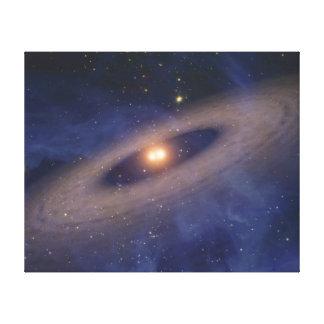 Binary Star Solar System Space Art Canvas Print