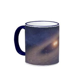 Binary Star Solar System Space Art Coffee Mugs
