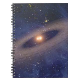 Binary Star Solar System Space Art Notebooks