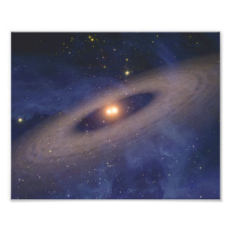 Binary Star Solar System Space Art Art Photo