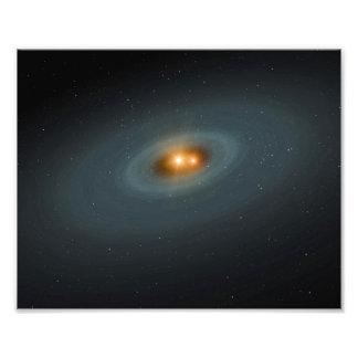 Binary Star Space Art Photograph