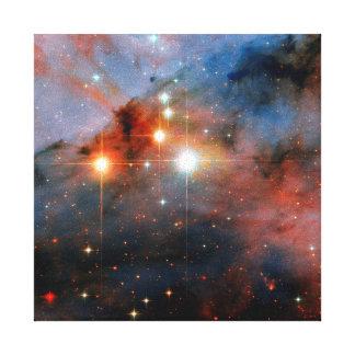 Binary Stars WR 25 & Tr16-244 - Hubble Space Photo Canvas Print