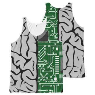 Binary Thinking Hi-Tech Human Brain All-Over-Print Tank Top