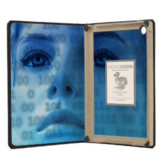 Binary Thoughts in Blue iPad Mini Covers