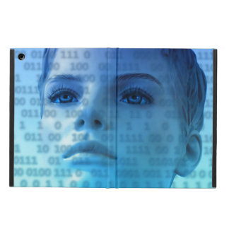 Binary Thoughts in Blue iPad Air Cover