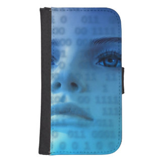 Binary Thoughts in Blue Galaxy S4 Wallet Case