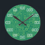 """Binary Time Round Clock<br><div class=""""desc"""">Can you tell your time...  in binary?</div>"""