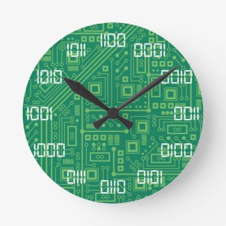 Binary Time Round Clock