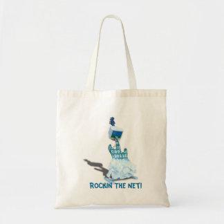 Binary' Tunes! - Rockin The Net Budget Handbag Tote Bag