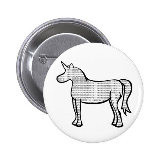 Binary Unicorn 2 Inch Round Button