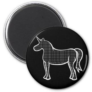 Binary Unicorn 2 Inch Round Magnet