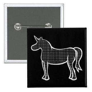 Binary Unicorn 2 Inch Square Button