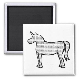 Binary Unicorn 2 Inch Square Magnet