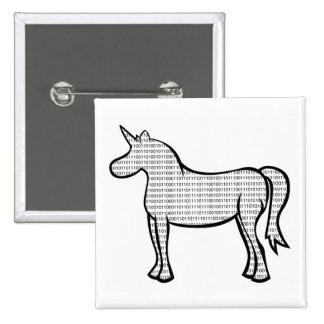 Binary Unicorn Pin