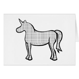 Binary Unicorn Greeting Card