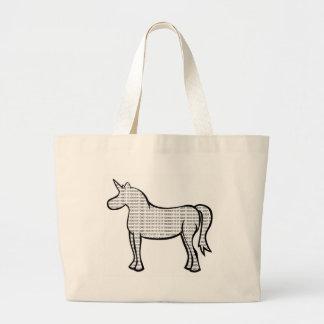 Binary Unicorn Jumbo Tote Bag