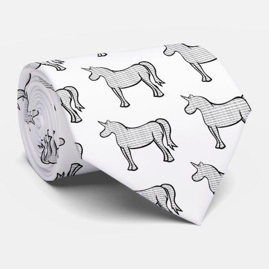 Binary Unicorn Neck Tie