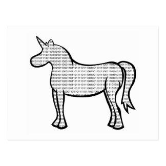 Binary Unicorn Postcard