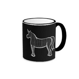 Binary Unicorn Ringer Coffee Mug