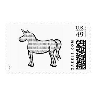 Binary Unicorn Stamps