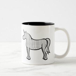 Binary Unicorn Two-Tone Coffee Mug
