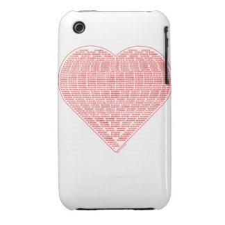 Binary Valentine Case-Mate iPhone 3 Cases