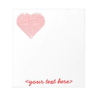 Binary Valentine Notepad