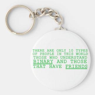 Binary vs. Friends Key Chain