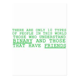 Binary vs. Friends Post Card