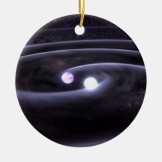 Binary White Dwarf Ceramic Ornament
