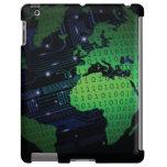 Binary World Earth Globe iPad  Case