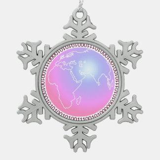 Binary World Ornament