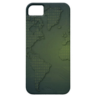 Binary World World Map iPhone 5 S Case iPhone 5 Cases