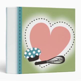 """binde del libro de cocina de la receta de la carpeta 1 1/2"""""""