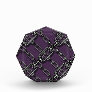 Binded In Chains On Acai Violet Background. Funny Award
