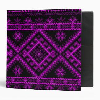 Binder 3 Ring Ukrainian Cross Stitch Purple Print